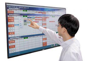 TOUCH DE SCHEDULE 行動予定表サイネージ デジタルホワイトボード デジタルスケジュール デジタルスケジュール